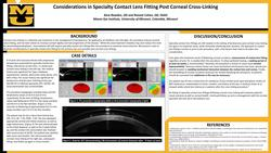 Considerations in Specialty Contact Lens Fitting Post Corneal Cross-Linking
