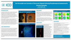Gas Permeable Lens Correction of Monocular Diplopia Following Phototherapeutic Keratectomy for Granular Dystrophy
