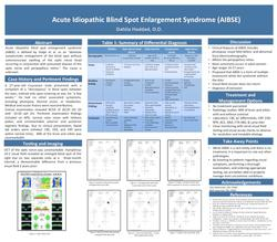 Acute idiopathic blind spot enlargement syndrome (AIBSE)