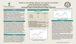 Athletes vs. Non-Athletes:  Reaction Time, Hand-Eye Coordination Using the SVI