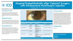 Atypical endophthalmitis after cataract surgery with intraoperative intravitreal moxifloxacin injection