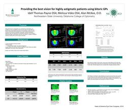 Providing the best vision for highly astigmatic patients using bitoric GPs