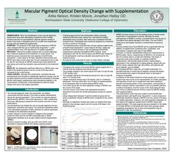 Macular Pigment Optical Density with Supplementation