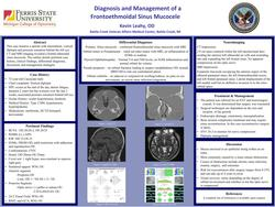Diagnosis and Management of a Frontal-Ethmoidal Sinus Mucocele