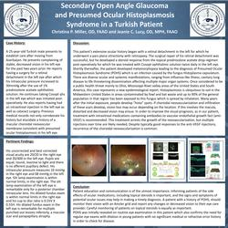 Secondary Open Angle Glaucoma in Presumed Ocular Histoplasmosis Syndrome in a Turkish Patient