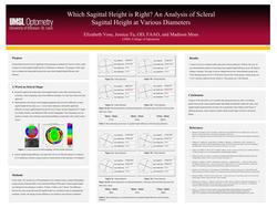 Which Sagittal Height is Right? An Analysis of Scleral Sagittal Height at Various Diameters