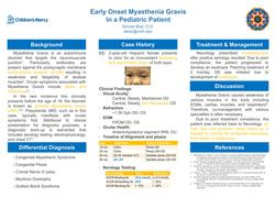 Rare Pediatric Case of Early Onset Myasthenia Gravis