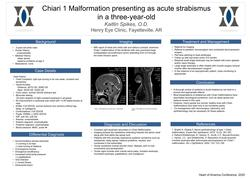 Chiari 1 Malformation presenting as acute strabismus in a three year old