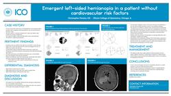 Emergent left-sided hemianopia in a patient without cardiovascular risk factors