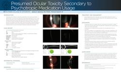 Presumed ocular toxicity secondary to psychotropic medication usage