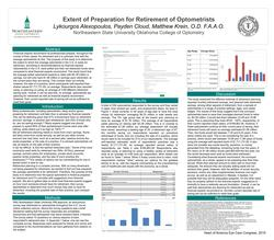 Extent of Preparation for Retirement of Optometrists
