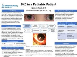 BKC in a Pediatric Patient