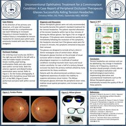 Unconventional Ophthalmic Treatment for a Commonplace Condition: A Case Report of Peripheral Occlusion Therapeutic Glasses Successfully Aiding Tension