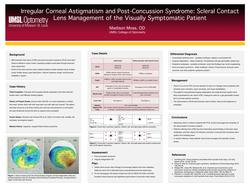 Irregular Corneal Astigmatism and Post-Concussion Syndrome: Scleral Contact Lens Management of the Visually Symptomatic Patient