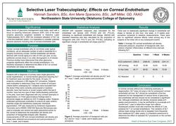 Selective Laser Trabeculoplasty (SLT): Effects on Corneal Endothelium